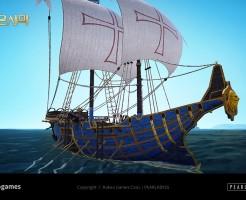 黒い砂漠カルフェオン帆船